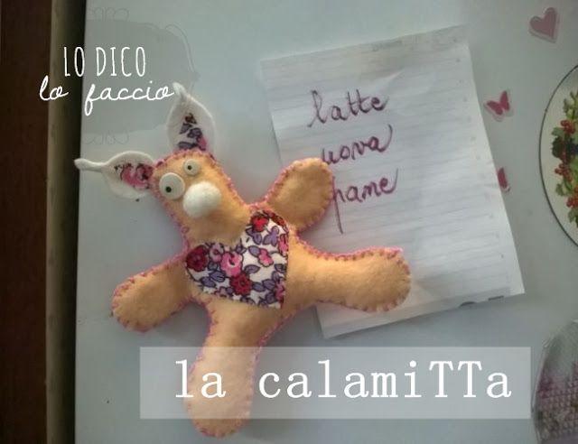 #pupazzo di #feltro con calamita http://www.lodicolofaccio.it/2015/10/la-calamitta-portablocchi.html