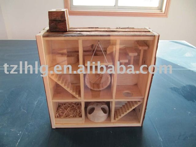 Source Observable Wooden Hamster House With Playground on m.alibaba.com