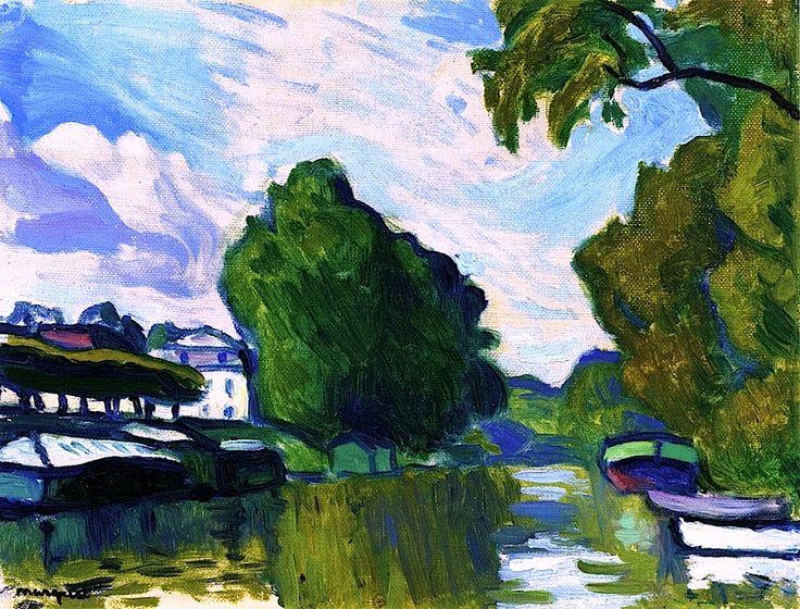 bofransson:    Poissy, by the Seine Albert Marquet - circa 1908