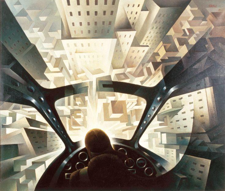 "Tullio Crali ""Diving on a City"", 1939 (Italy, Futurism, 20th cent.)"
