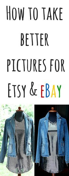 Great guide on how I take pictures of clothing for my part time eBay and Etsy stores and how greatly taking better pictures increased my sales drastically when selling to make money online.