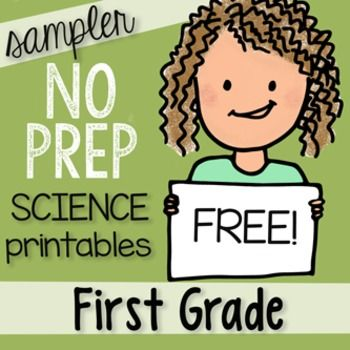 I worry that Science gets overlooked in the early grades and that is why I offer this: FREE 15 PAGE Sampler to my:NO PREP 200+ Page First Grade SCIENCE Printables packed with engaging ways to teach Science! Unique drawings that help students understand science concepts, NGSS and TEKS aligned.