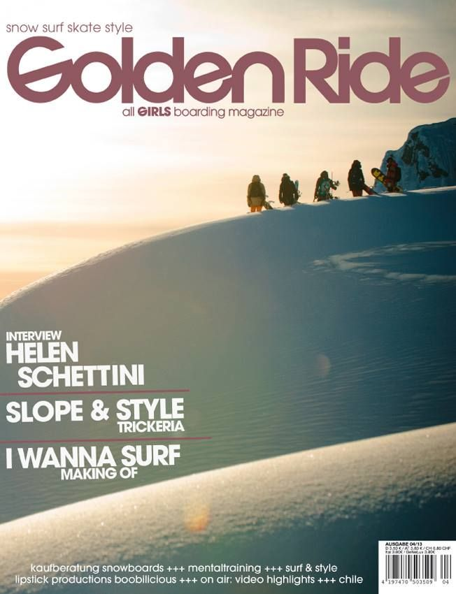 Made it to the cover, check out latest issue of Golden Ride Mag #lipstickProduction #snowboarding #girlsRiding #sportsPhotography #FstopGear #EleonoraRaggiPhotography
