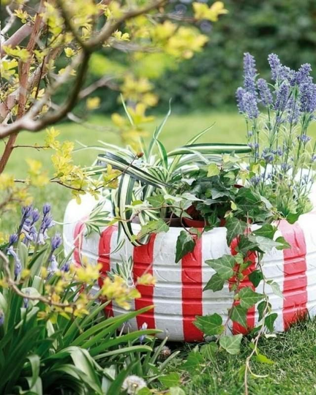 57 best recyclage de pneus - jardin images on pinterest | old ... - Decoration Jardin A Faire Soi Meme