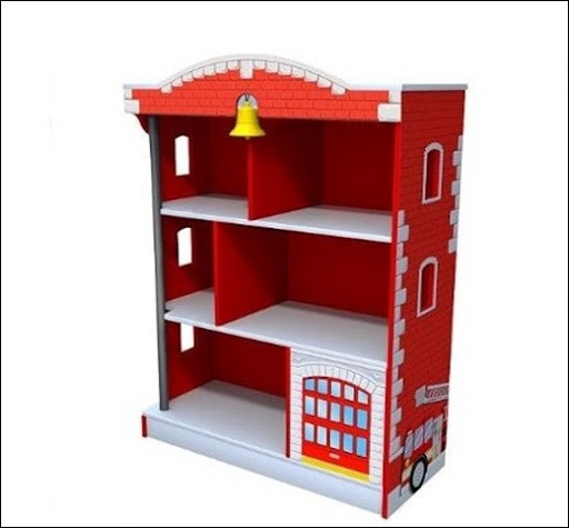 Kidkraft Firehouse Bookcase: Bookcase Fire House. We Are Contemplating Turning Sisters