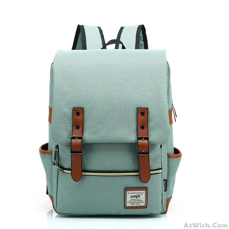 Wow~ Awesome Retro Travel Backpack Leisure Canvas With Leather BackpackSchoolbag! It only $34.99 at www.AtWish.com! I like it so much<3<3!
