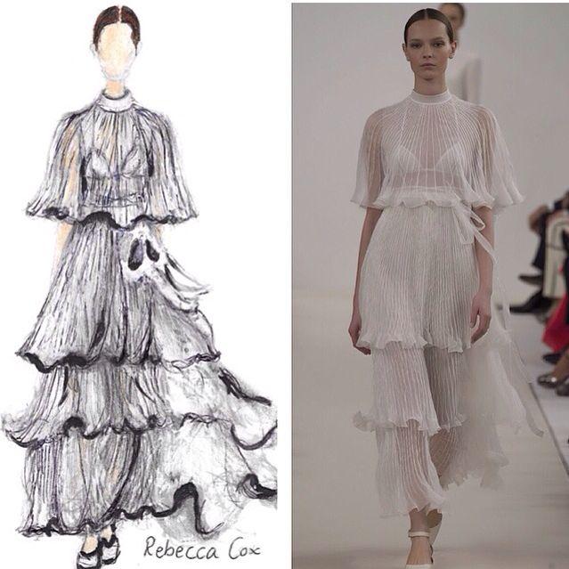 My fashion illustration from Valentino ss15 haute couture New York. #fashion #illustration #nyfw #Valentino #haute #couture #designer #love