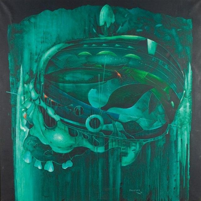 Alexis Preller, You will never know, 1971. Oil on canvas. 137.5 x 137.5 cm. Private Collection (Source Standard Bank Gallery)