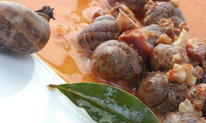 Receta de Caracoles en salsa con jamón