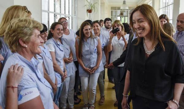 Vidal recorrió los partidos bonaerenses de San Cayetano, Gonzáles Cháves y Tandil