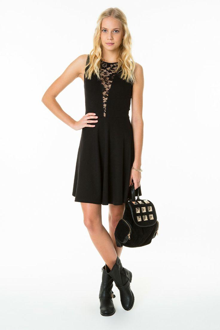 black #XMAS #party #LBD #TALLYWEiJL http://www.tally-weijl.net/p/dresses-jumpsuits/schwarzes-kleid-mit-spitze-und-pailletten/ndrmeriag2-blk001?categoryId=21569