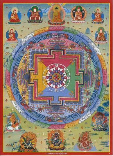Mandala of Chakrasamvara (Buddhist Deity) - (Krishnacharin Tradition) (HimalayanArt)