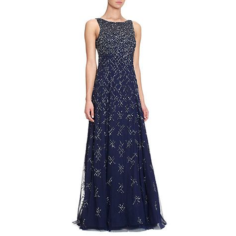 Buy Aidan Mattox Beaded Gown, Twilight Online at johnlewis.com