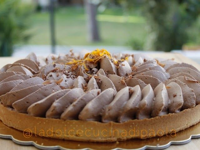 """La dolce cucina di Paola: Crostate """"dedicate""""!crostata con marmellata di arance e ganache al cioccolato"""
