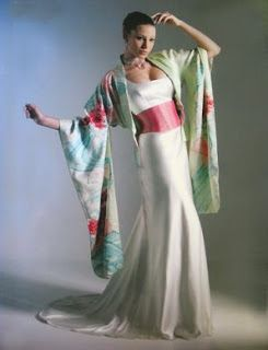 fusion wedding dress japanese western