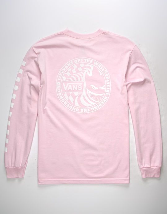63b8642591 VANS x Spitfire Pink Mens T-Shirt | LONG SLEEVE TEE in 2019 ...