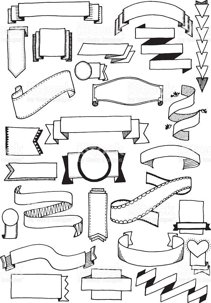 Doodle bannières stock vecteur libres de droits libre de droits