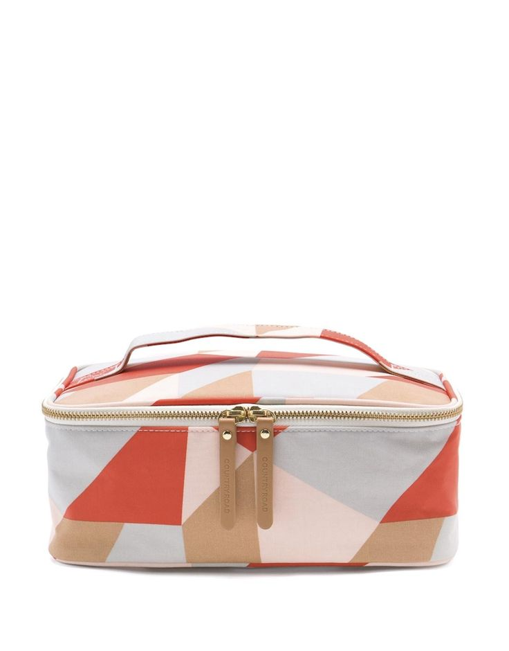 Abstract Print Large Cosmetic Bag
