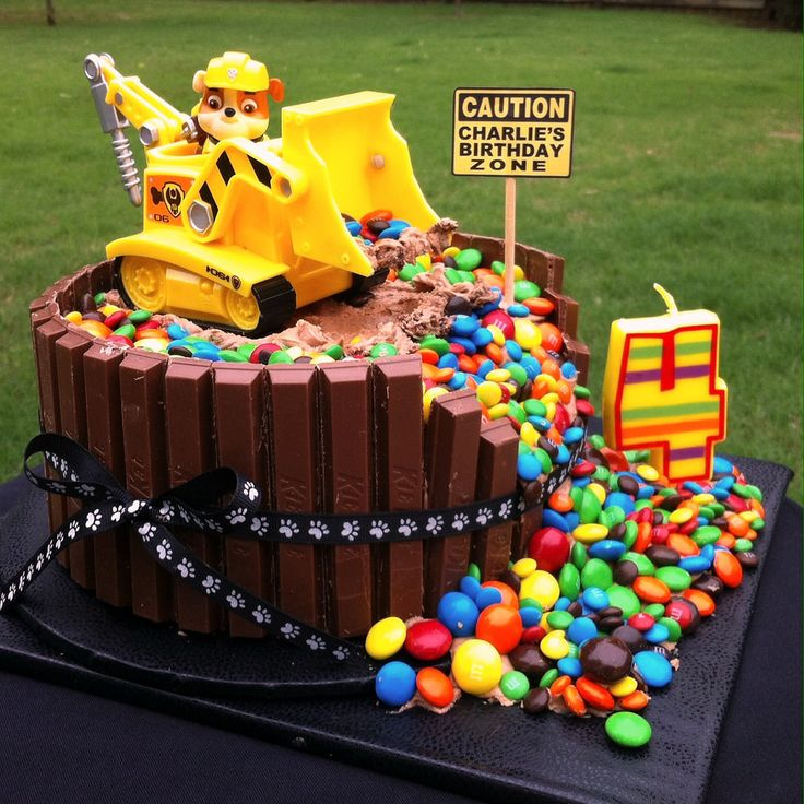 Paw Patrol Rubble Birthday Cake In 2019 Recipes To