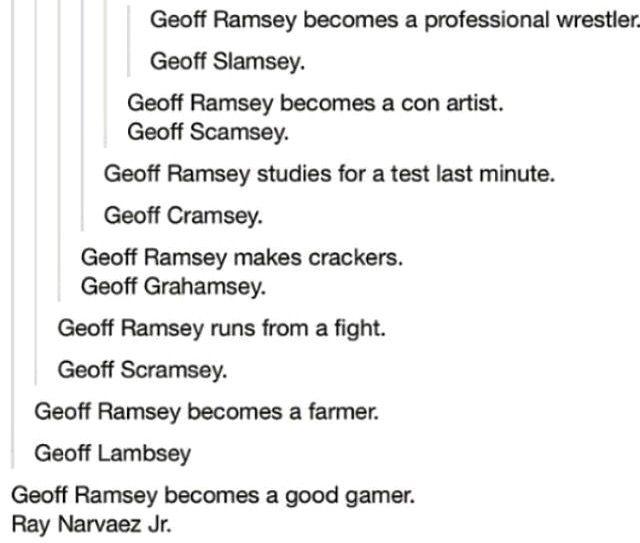 Geoff Ramsey last name Kany west meme
