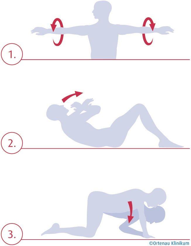 3 einfache Übungen für eine gesunde Schulter (Quelle: Ortenau Klinikum)