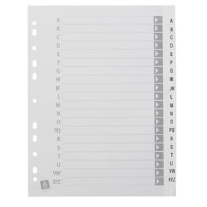 Avery A4 Polypropylene Dividers with A-Z Index White