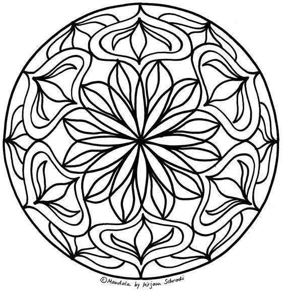 Mandala Blumen Ausmalbild zum Ausdrucken für Erwachsene kostenlos Download Mandalas for Adults Free Printable