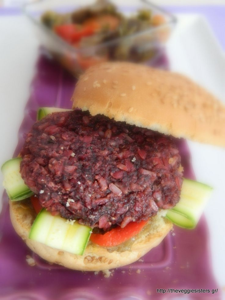 vegan beetroot brown rice patties