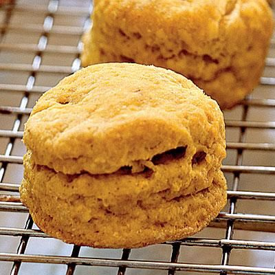 Spiced Pumpkin Biscuits with Orange Honey Butter | CookingLight.com