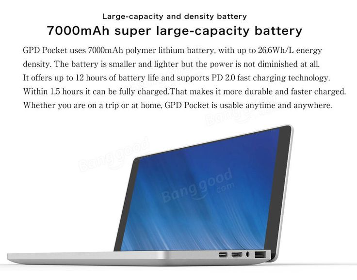 Original Box GPD Pocket Intel Z8750 Quad Core 8G RAM 128G 7 Inch Windows 10 Tablet Mini Laptop UMPC