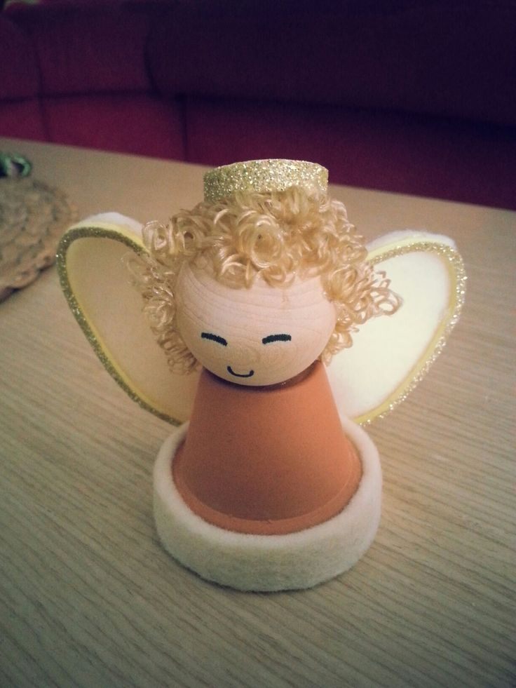 little pot  felt Nativity angel diy