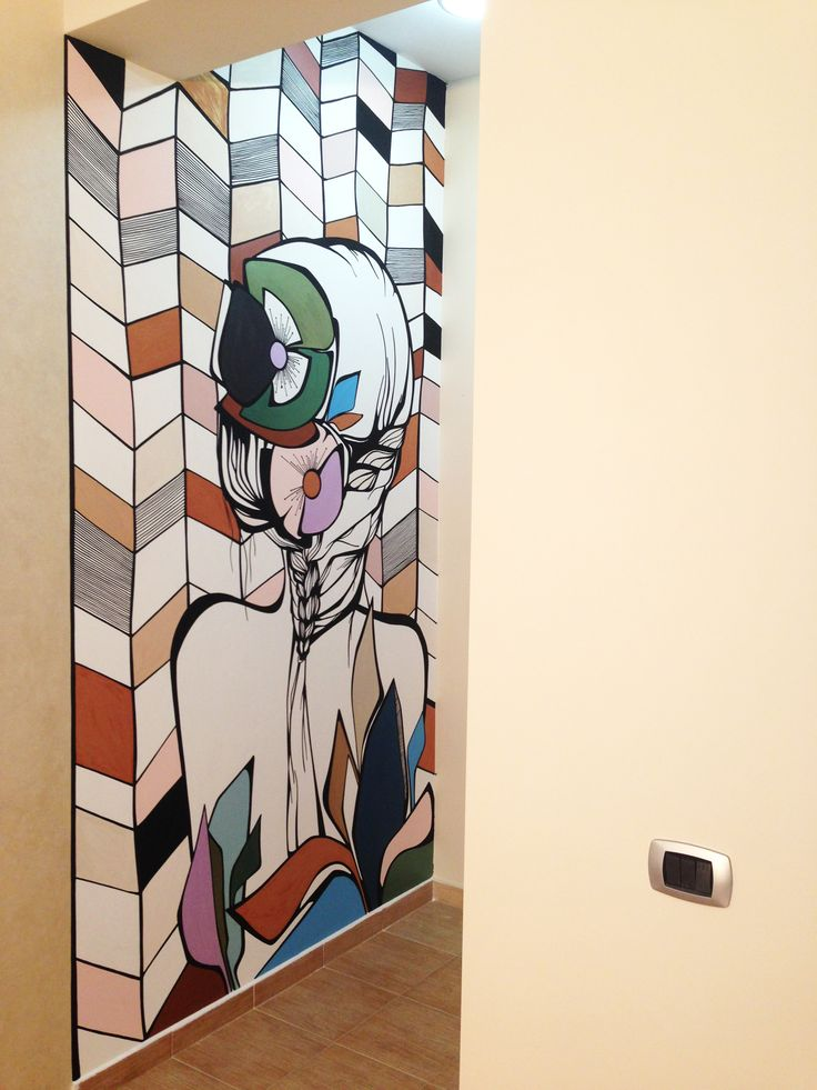 """Arya"" @ DMG ART Concept Showroom | Wall mural decorative paint ""Arya"" @ DMG ART Concept Showroom | Pictura murala realizata cu vopsea decorativa"