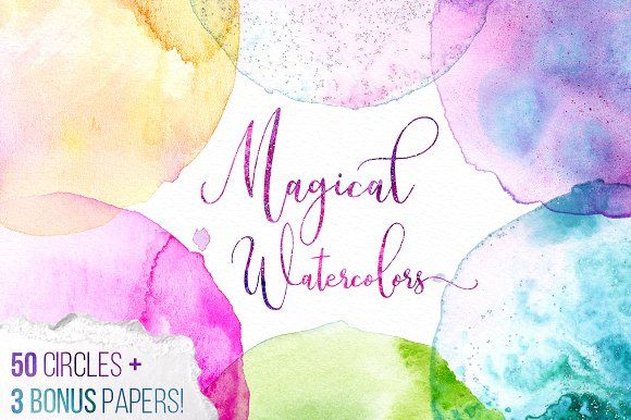 Magical Watercolor Mega Texture Pack by Yasmina Creates on @creativemarket