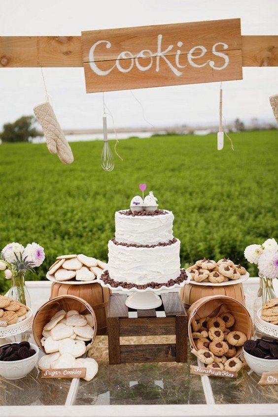 rustic farm wedding cookies bar / / http://www.deerpearlflowers.com/wedding-smore-cookies-milk-bar-ideas/