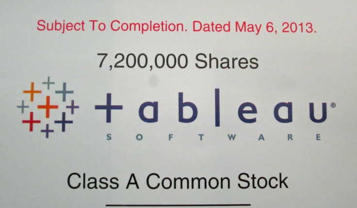 Tableau Prospectus, IPO, Kingdom Ridge Capital, KRC, Innovation, DATA