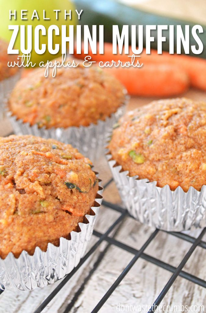 Hands down, our favorite breakfast muffin recipe during the summer - zucchini bred with apples and carrots!