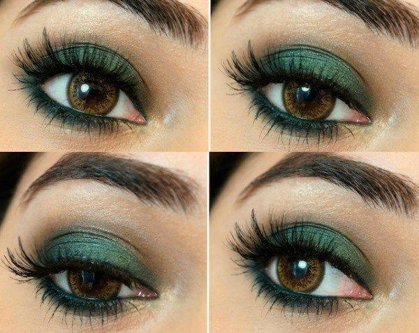 Makeup Ideas For Green Dress