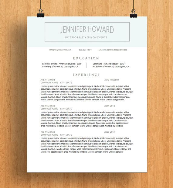 51 best resume templates images on Pinterest Cover letter - american resume template
