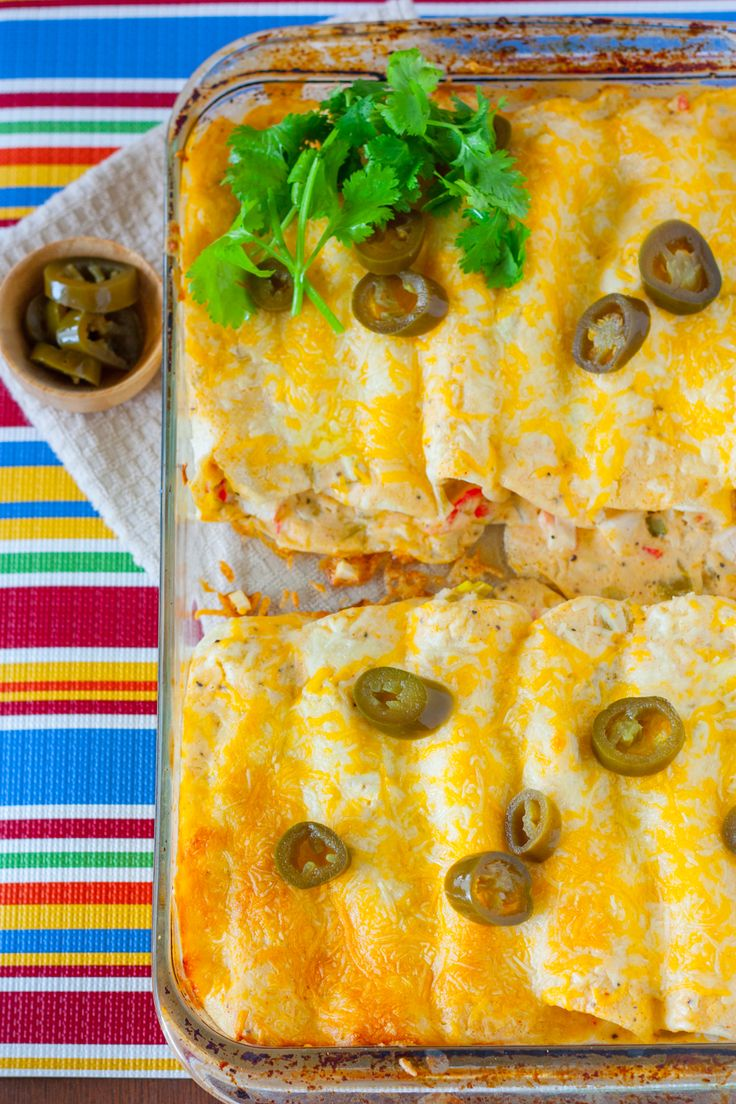 Creamy White Sauce and Crab Enchiladas