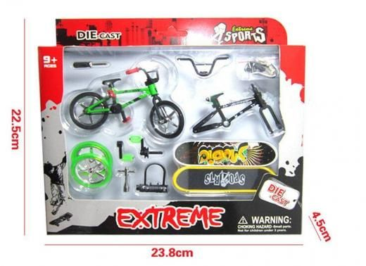 "Mini Finger Educational Stunt Bike &skateboard Set With Accessories Gift Skateboarding No China 2002-now 23.8*22.5*4.5cm/9.37""*8.86""*1.77"" 2017 Plastic Original (unopened) Above 3 Years Old"