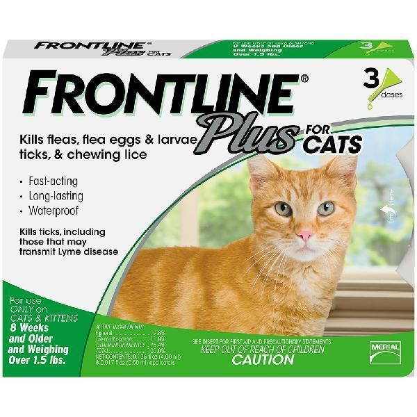 Frontline Plus For Cats And Kittens Up To 8 Week And Older 3 Doses
