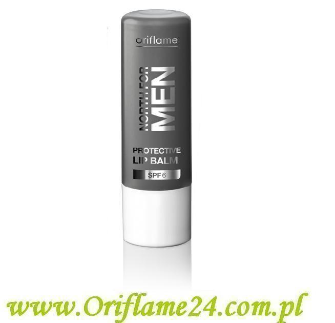 Oriflame - Ochronny balsam do ust North For Men SPF 6. Doskonale nawilża i odżywia skórę ust, chroniąc ją przed szkodliwym działaniem promieni UV. Z kompleksem Arctic Pro Defence i witaminą E. Posiada filtr SPF 6. Pojemność: 4.5 g.