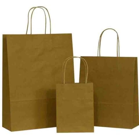 Natural Brown on Brown Carrier Bags with Twisted Handle
