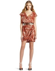 Tracy Reese Womens Tulip Skirt Cowl Dress