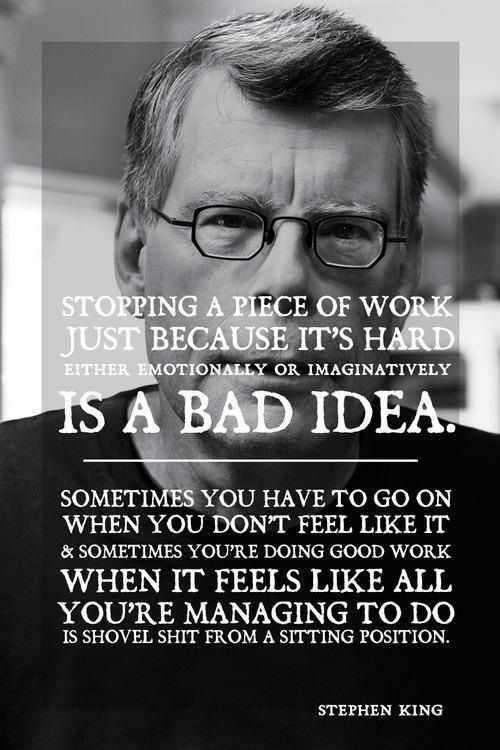 stephen king advice on writing a book