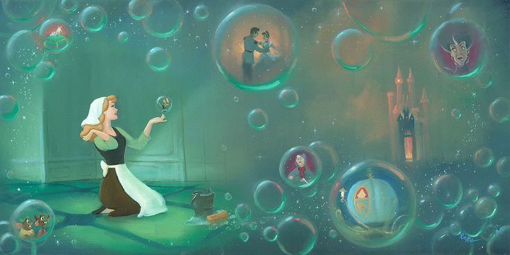 Cinderella - A Fairytale Life - Rob Kaz - World-Wide-Art.com - #disneyfineart #robkaz #cinderella