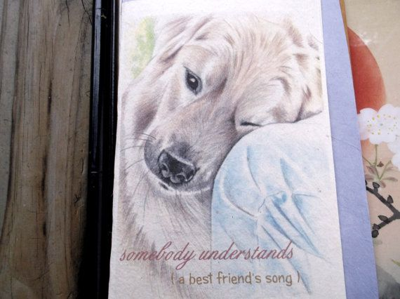 therapy worker! celebrate a guardian's whose beloved animal companion served loyally as a therapy worker/ choose another image/ emotional, heartfelt/comforting/ celebration of journey cards/hand made natural paper/hand drawn/unique empathy condolence cards