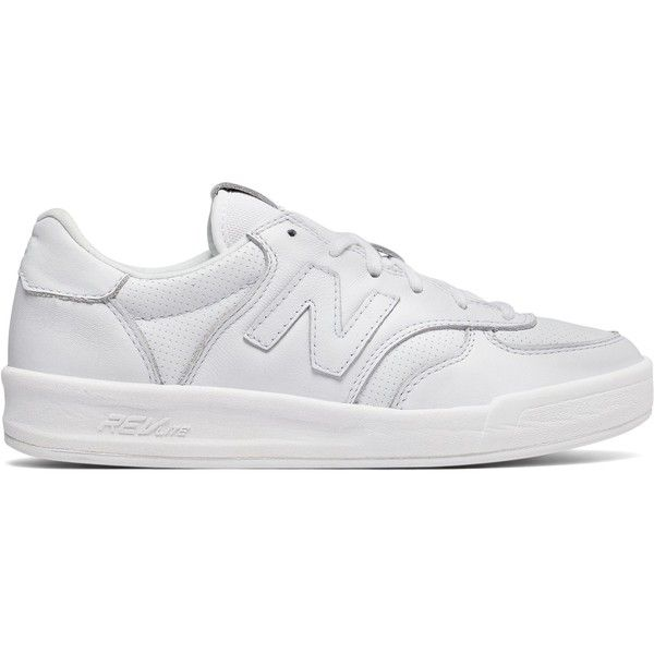 New Balance 300 Leather Women's Court Classics Shoes (310 PLN) ❤ liked on Polyvore featuring shoes, pumps, white, leather footwear, white pumps, new balance shoes, leather shoes and genuine leather shoes