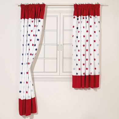 Star Blackout Curtains for Kids (Pair)