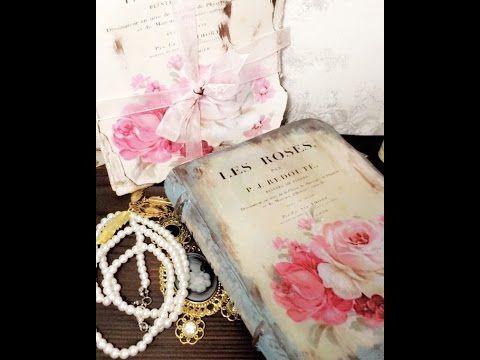 كتاب فنتيج  من كرتون / ديكوباج vintage